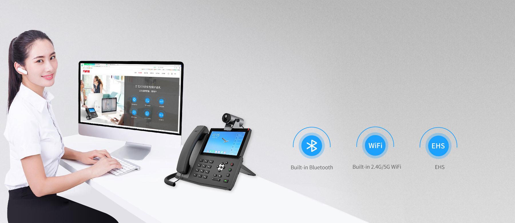 Fanvil X7A - WiFi và Bluetooth tích hợp
