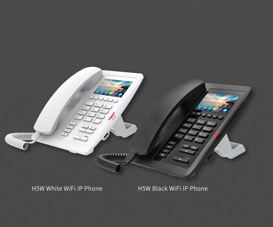 Điện thoại IP WiFi Fanvil H5W - hỗ trợ hai màu đen và trắng