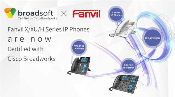 Fanvil SIP IP Phones are Qualified on Cisco Broadworks Certification